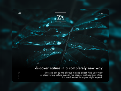 Discover Nature webdesign graphicdesign userexperience userxperience ux uxdesignui uidesign metropolitan cities enjoy concept modern cites modern nature