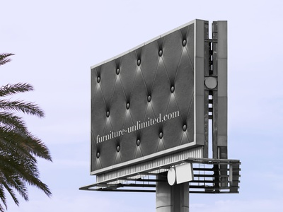Furniture Billboard clean design billboard texture marketing branding graphicdesign furniture design design furniture
