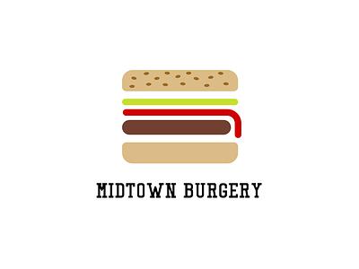 Midtown Surgery Logo userxperience design icon illustration uxdesign ux logo graphicdesign brand branding logodesign burger