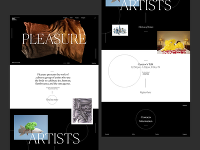 Pleasure Exhibition minimal website typography design web design web