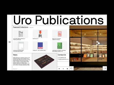 Uro Publications minimal melbourne publication typography design website web design web