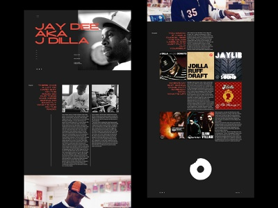 Fan site for J Dilla ui minimal typogaphy melbourne typography design website web design