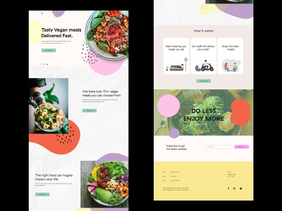 Vegan Food Delivery minimal web melbourne typography design website web design