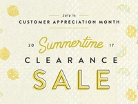 Summertime Clearance