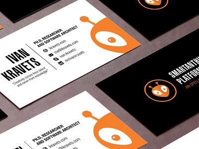 Ivan Kravets B-Card icon flat clean logo business card