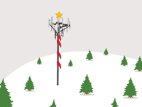 A Cell Phone Tower in the North Pole