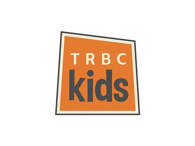 TRBC Kids Logo church orange box ministry kids children logo