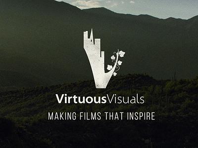 Virtuous Visuals Logo logo vision city vines nature