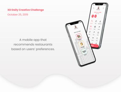 Restaurant recommendation app