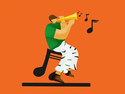 Play Music design vector illustration flat flatillustration