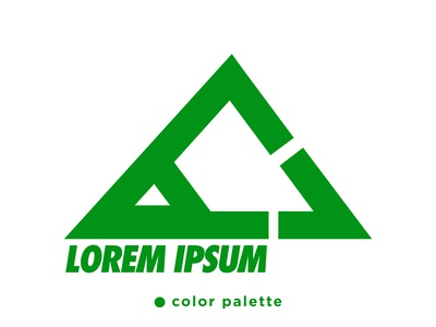 Green Triangle Logo Design