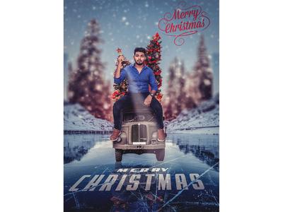 Merry Christmas Poster Design