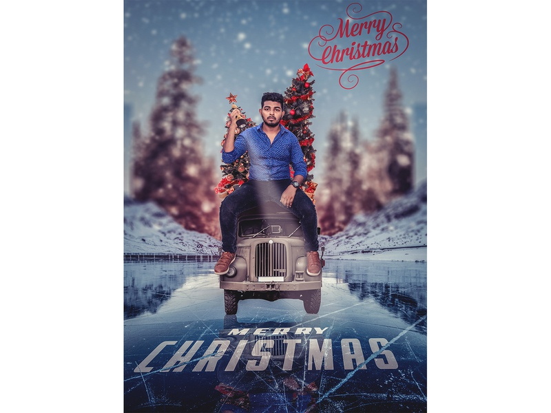 Merry Christmas Poster Design branding merrychristmas movie poster photoshop manipulation photoshop art design photoshop creative design