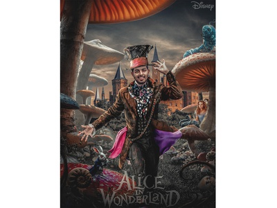 Alice In The Wonderland | Movie Poster Design