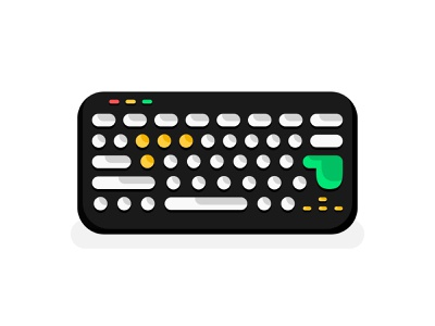 Keyboard Illustration Design Flat Style qwerty flat icon object alphabet electronic vector illustration flat laptop keypad button computer colorful flat color flat  design flat illustration keyboard design vector icon illustration