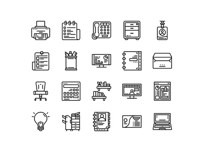 Office Icon Set Design Line Style offices school svg finance business office interface ui icon app icon web design ui design vector svg icons icon pack icon set icons iconography icon design icon illustration