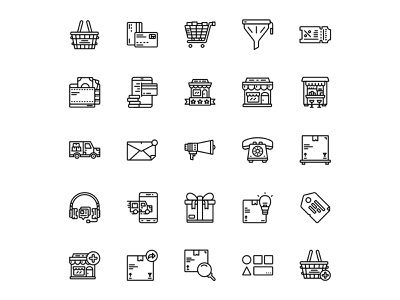 Online Shopping Icon Set Design Line Style line style product design online payment ecommerce tag flash sale black friday product deliver shopping online store online shopping vector icons ui icon set iconography icon design icon illustration