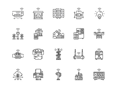 Internet Of Things Icon Set Design Line Style web icons icon pack line icon outline icon design future iot smart technology smart digital innovation networks icon vector icons icons icon set icon design illustration technology internet of things
