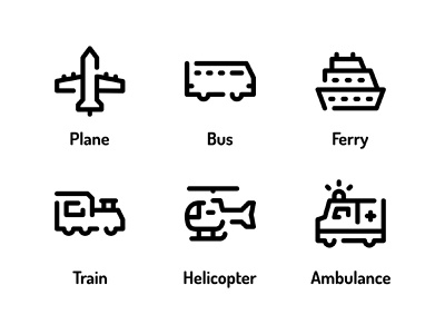Transportation And Vehicle Icon Set Design Line Style svg icons transport button symbol industry ambulance global travel vector ui design icons custom icon web icon line icon vehicle transportation illustration icon icon set icon design