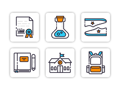 School Object Icon Set Design Filled Line Style iconaday iconutopia dailyicon flat illustration schools learnicon school app schoolicon illustration vector ui icon set icons iconography icon design icon flatdesign object backtoschool school