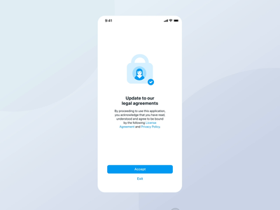 Animation to update agreements aftereffects argeement introduction welcome screen onboarding icons ui design animation gif mobile animate app ios