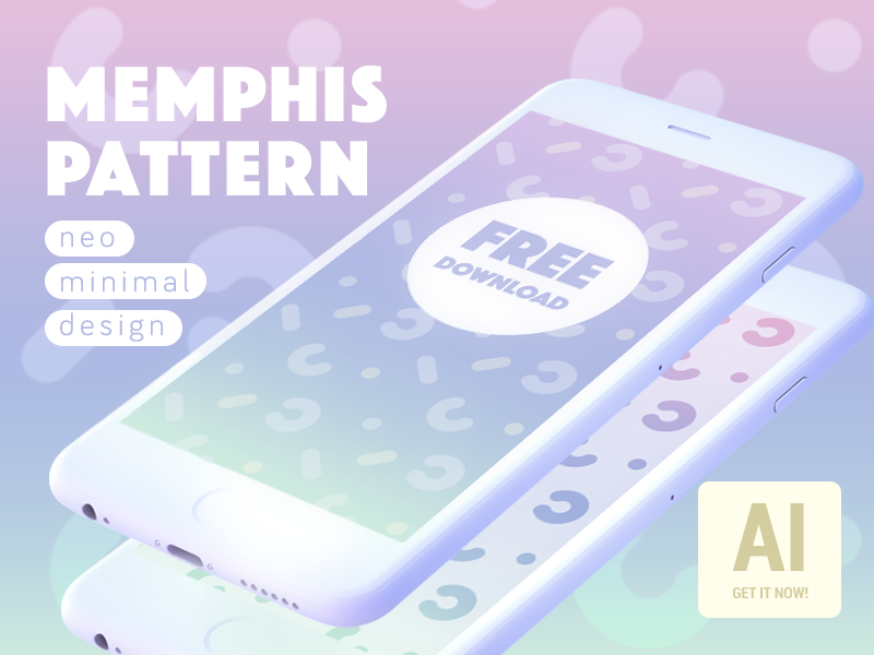 Download FREE Neo memphis minimal pattern