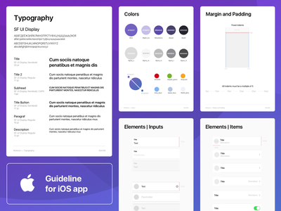 Guideline for iOS app palette guideline gui ios app