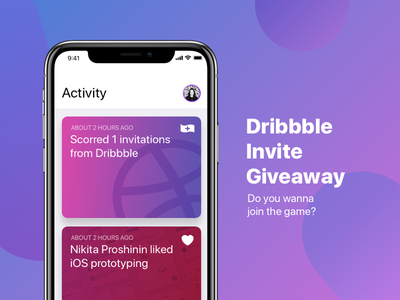 Dribbble invite inspiration iphone x iphonex giveaway invite dribbble dribbble invite giveaway