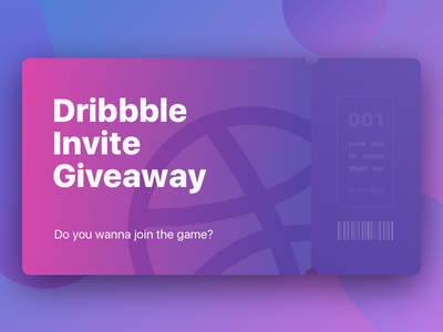 1 invite for you ticket invite inspiration giveaway dribbble invite giveaway dribbble