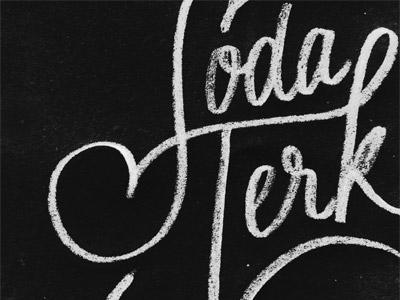 Soda Jerk  lettering hand lettering sketch texture