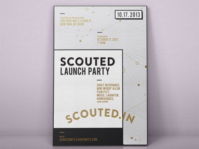 Scouted invite flat