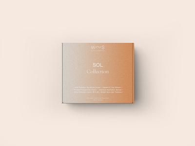 Waves Cosmetics Box sol sun orange sustainable skin care nature box packaging branding