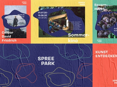 Poster Wall Spreepark Corporate Design
