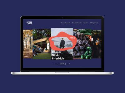 Website Spreepark Corporate Design
