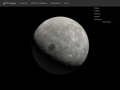 GLTF Moon moon nasa glb gltf render 3d cgi blender