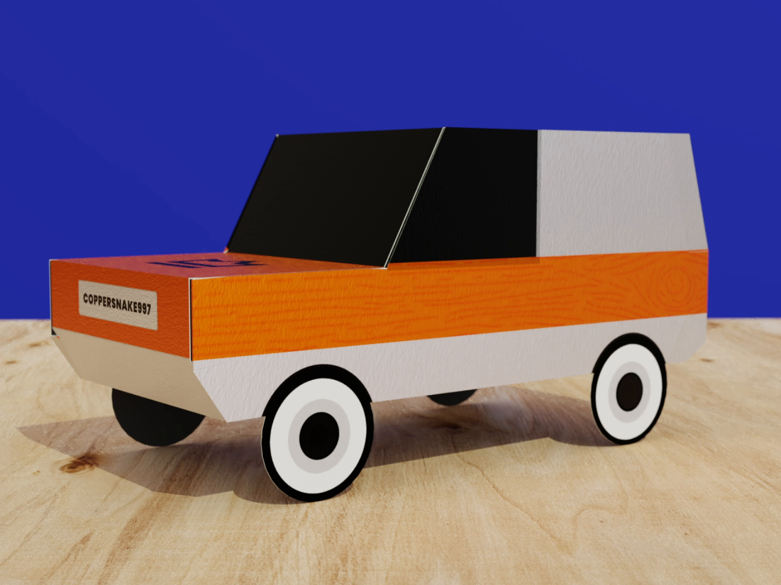 Paper Craft Car with Referral Codes