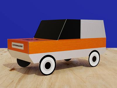 Paper Craft Car with Referral Codes design print render 3d cgi blender