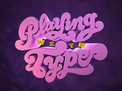 Playing with Type blender cgi 3d typography