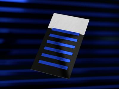 Baseline business card foil print cgi 3d blender