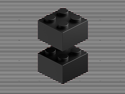 2x2 III bricks lego 3d cgi blender