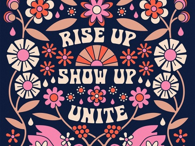 rise up show up riseupshowupunite show up rise up unite vote symmetry flowers birds debate election america rise up show up unite
