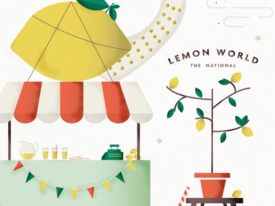 lemonworld straw lemonade leaves light illustration music the national tree fruit stand lemon