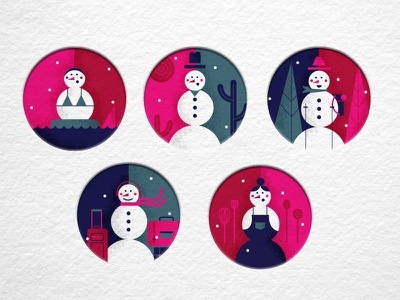 snowglobes card texture travel holiday christmas winter snow snowpeople snowman