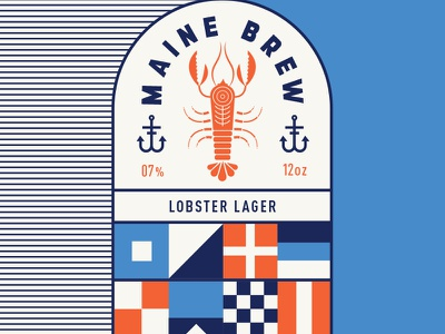 Lobster Lager flag anchor alcohol nautical sea portland packaging maine lobster beer