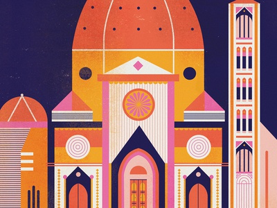 Firenze dome tuscany firenze catholic church buildings illustration europe cathedral duomo italy florence