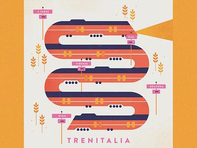 Trenitalia book trenitalia austria illustration travel train italy