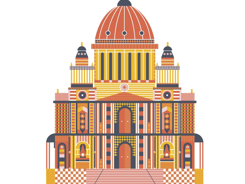St. Paul uk europe church pattern building illustration cathedral st. paul england travel london