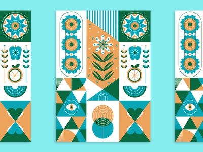 Holstee letterpress print pattern gears food sun environment heart health wellness holstee