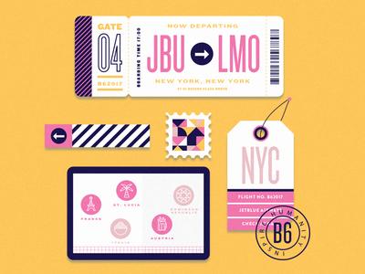 new yob!  travel stamp new job job tag passport ticket