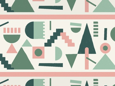 shapes tree texture repeat pattern mexico city stairs circle geometric triangles shapes mural